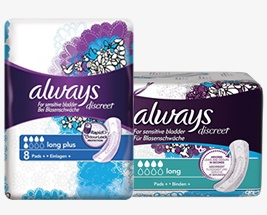 Always Discreet Pads | Always | Incontinence Choice