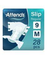 Attends Slip Regular 9 Medium (2100ml) 28 Pack - mobile
