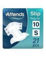 Attends Slip Regular 10 Small (2500ml) 21 Pack - mobile