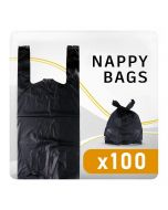 Large Black Nappy Disposal Bag - 100 Pack