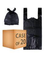 Case Sver 20x Large Black Nappy Bag - 100 Pack
