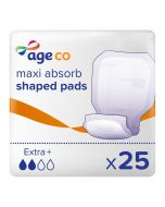 Age Co Maxi Absorb Shaped Pads Extra+ (2220ml) 25 Pack - mobile