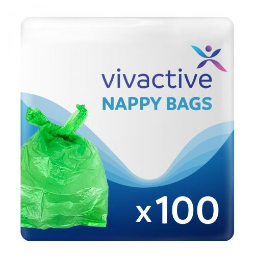 Vivactive Extra Large Incontinence Nappy Disposal Bags - 100 Pack