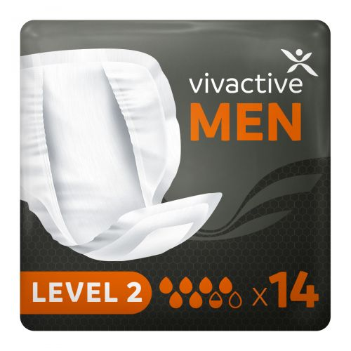 Vivactive Men Level 2 Pads (650ml) 14 Pack - mobile