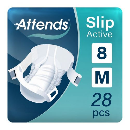 Attends Slip Active 8 Medium (1700ml) 28 Pack - mobile
