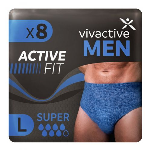 Vivactive Men Active Fit Underwear Large (1700ml) 8 Pack