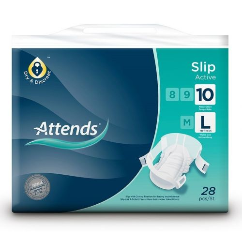 Attends Slip Active - Large (10) (100-145cm/39-57in) Pack of 28