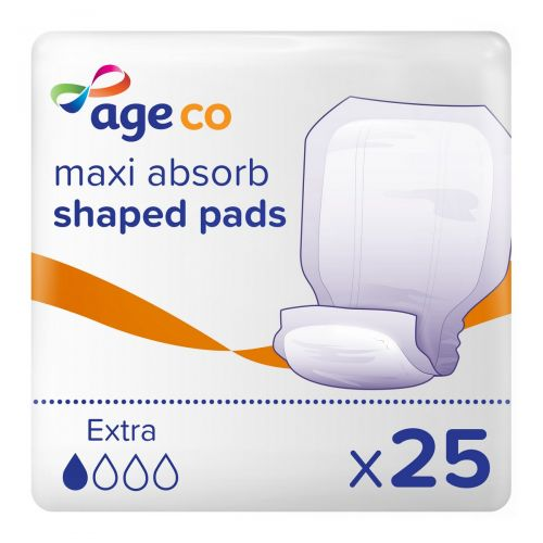Age Co Maxi Absorb Shaped Pads Extra (1570ml) 25 Pack - mobile