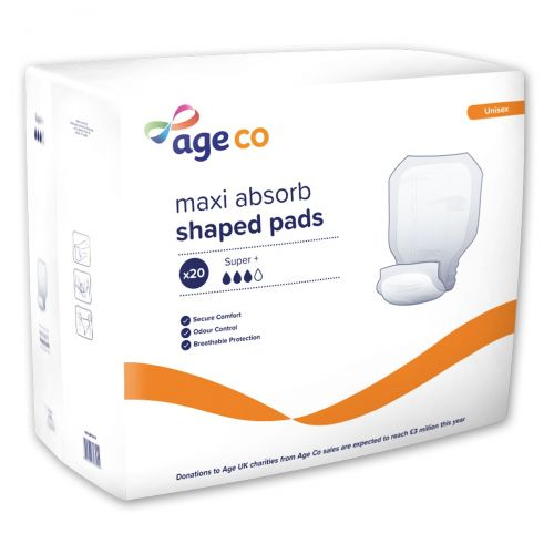 Age Co Maxi Absorb Shaped Pads Super+ (2920ml) 20 Pack
