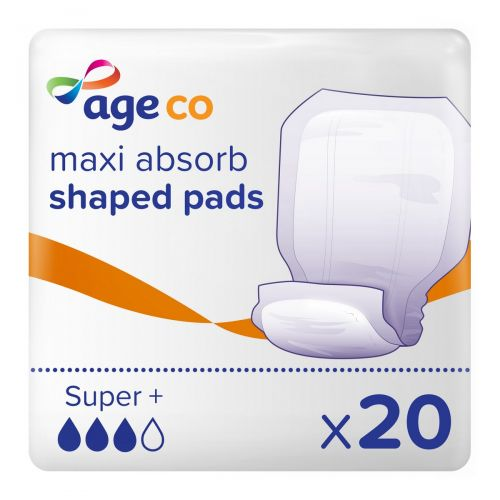 Age Co Maxi Absorb Shaped Pads Super+ (2920ml) 20 Pack - mobile