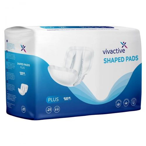 Vivactive Shaped Pads Plus (1500ml) 21 Pack