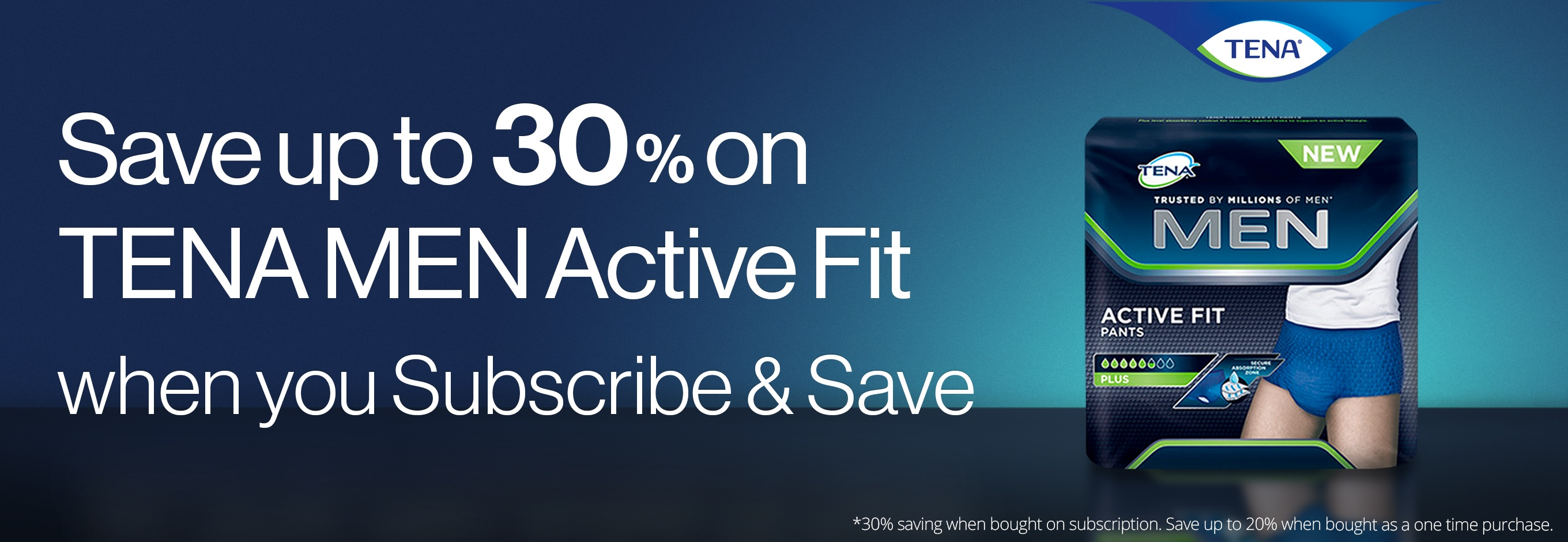 Save on TENA Men Active Fit