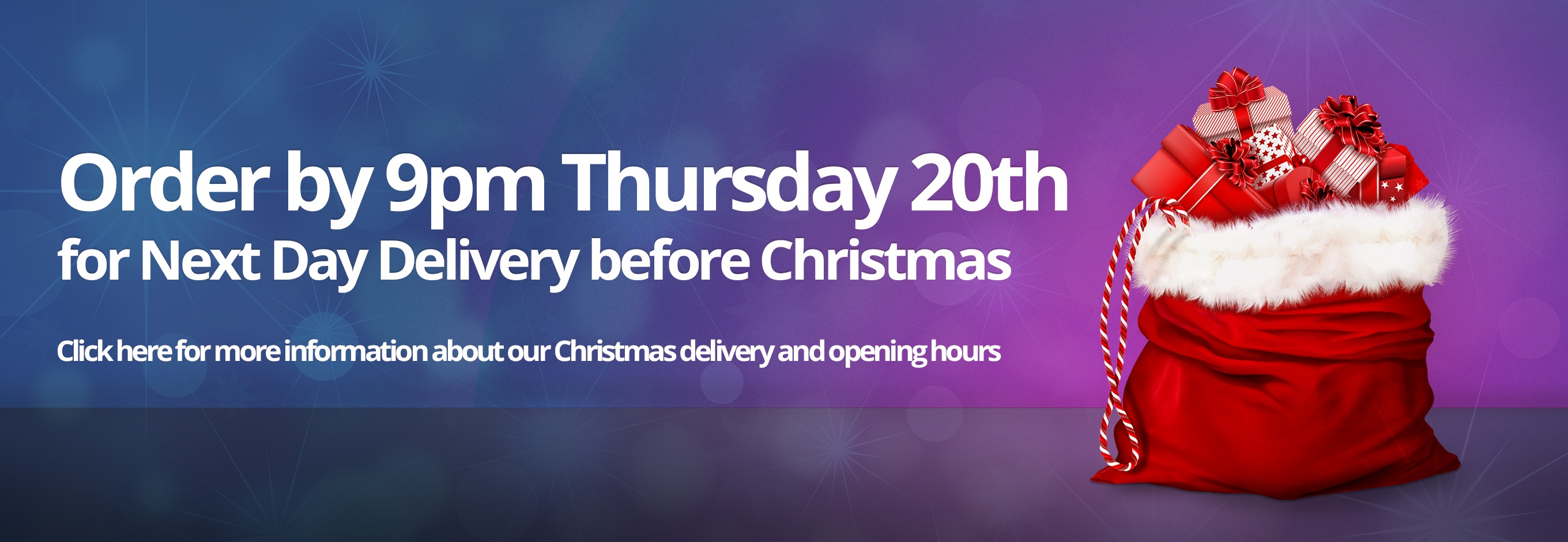 Christmas Delivery & Opening Hours