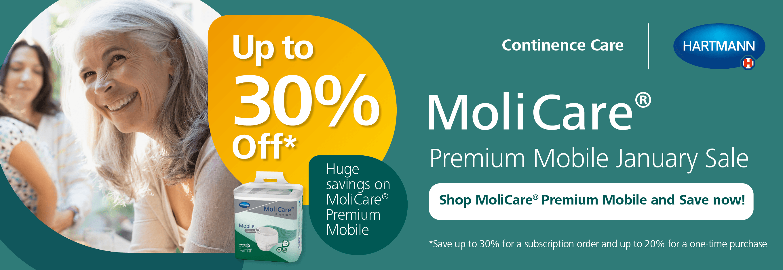 Up to 30% MoliCare Premium Mobile