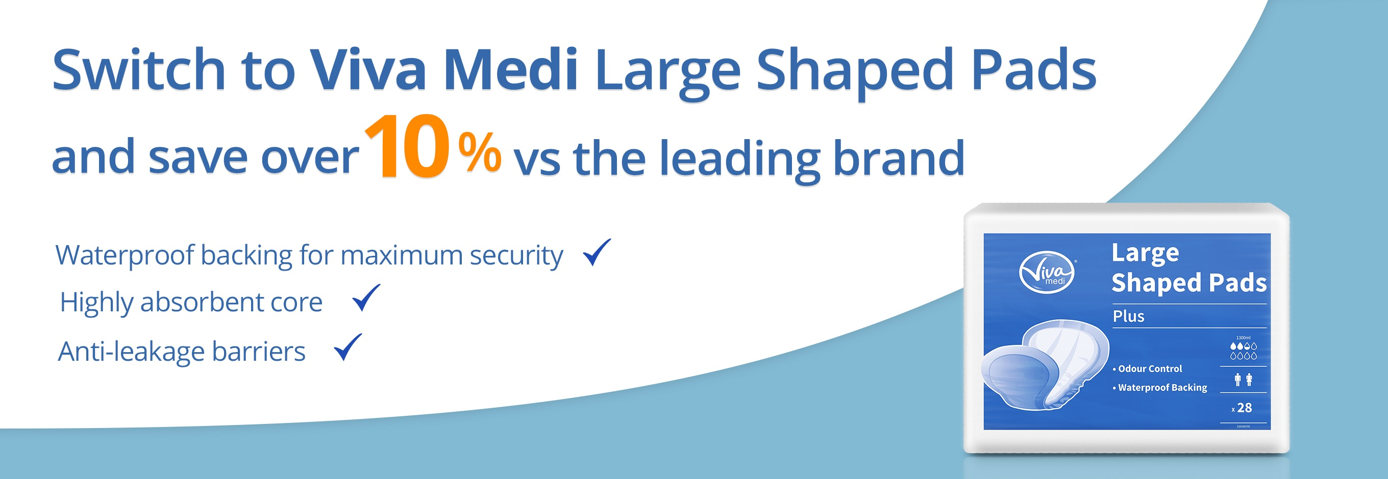 Switch to Viva Medi Large Shaped Pads