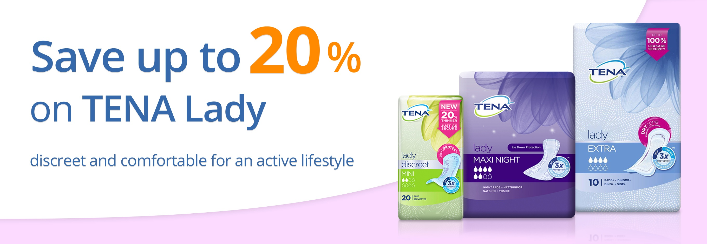 Save up to 20% on TENA Lady